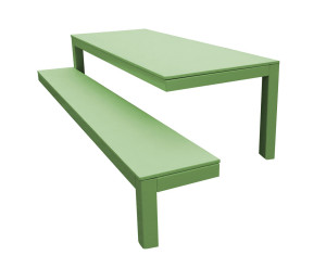 design de mesa e banco de 3 pes